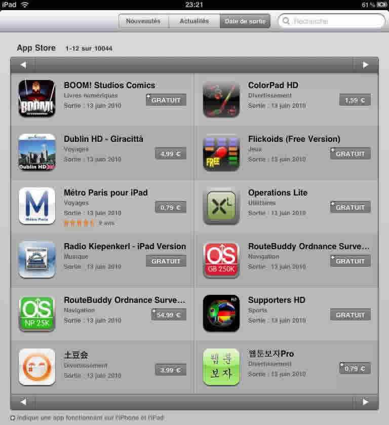 10 000 applications pour l ipad blog apple ipad france for Application miroir pour ipad