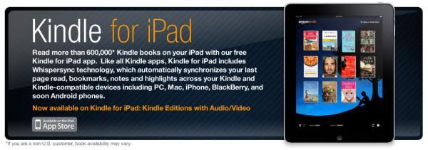 Kindle Amazon ipad