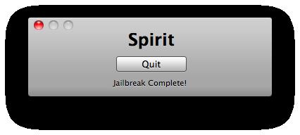 Jailbreak ipad Spirit